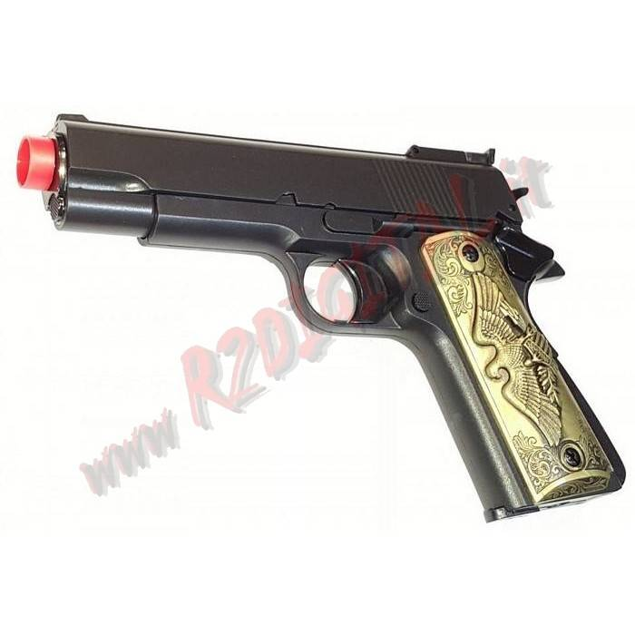 PISTOLA GREEN GAS COLT 1911 NERA HFC HG-123B 6mm EAGLE