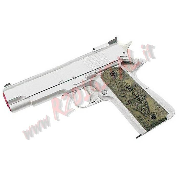 PISTOLA GREEN GAS COLT 1911 SILVER HFC HG-123S 6mm EAGLE