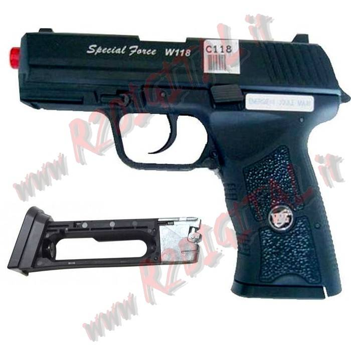 PISTOLA CO2 PX4 SPECIAL FORCE WIN GUN C118 6mm SEMI SCARRELLANTE