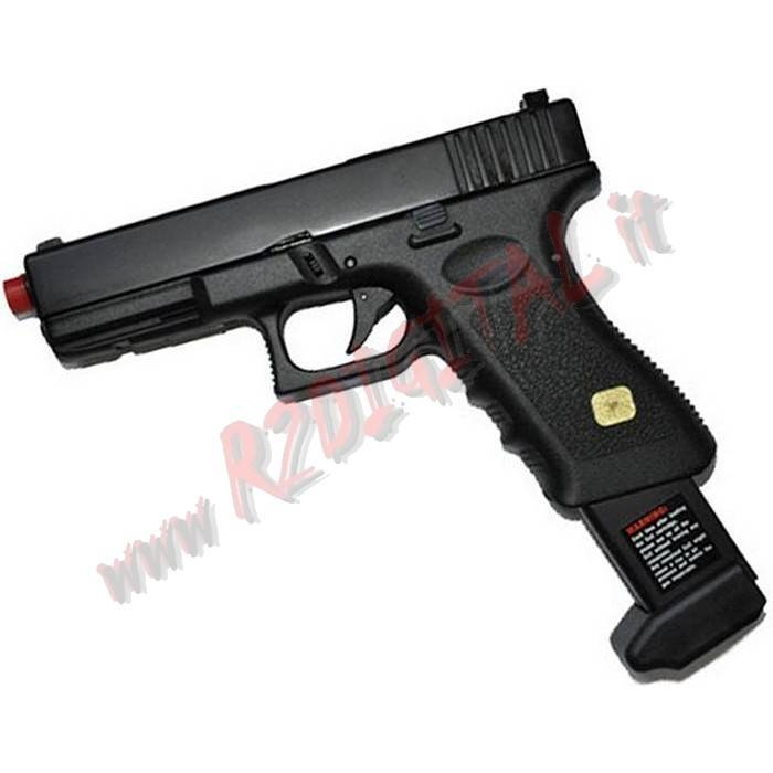 PISTOLA CO2 GLOCK G17 HFC CO185B SCARRELLANTE 6mm SOFTAIR
