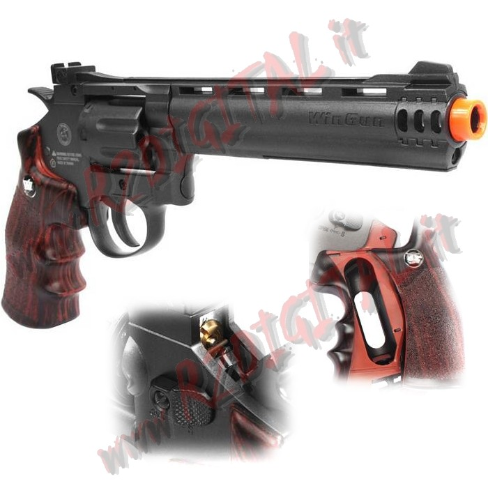 PISTOLA CO2 REVOLVER SUPER SPORT A TAMBURO WIN GUN C704 6mm