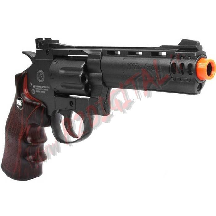 PISTOLA CO2 REVOLVER SUPER SPORT A TAMBURO WIN GUN C705 6mm