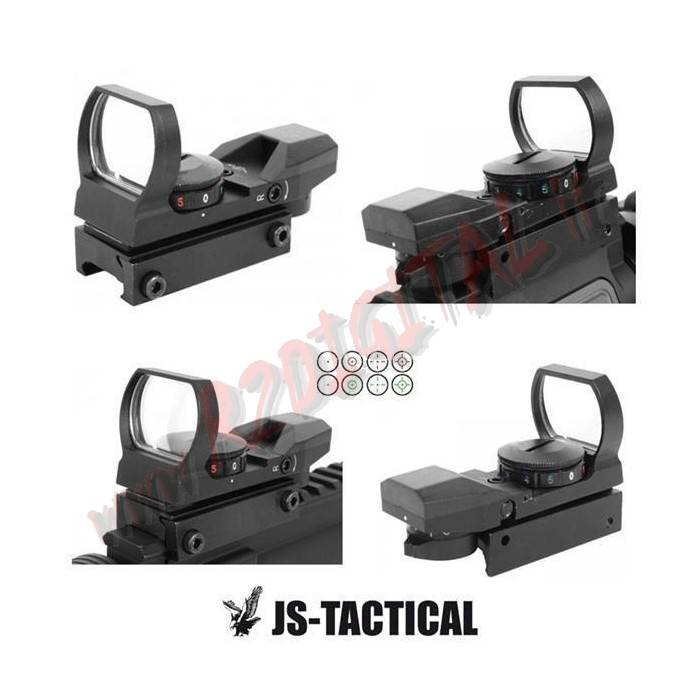 RED DOT 15X35 NERO o TAN JS-TACTICAL MIRINO OLOGRAFICO WEAVER
