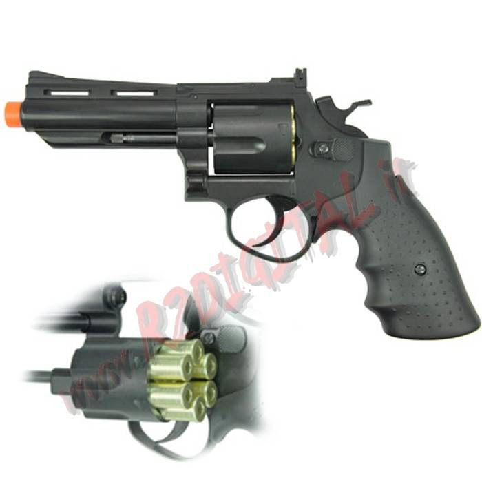 PISTOLA GREEN GAS REVOLVER 132 HFC HG-132B HEAVY MODEL 6mm