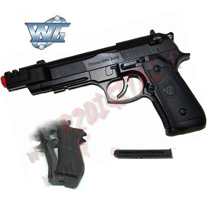 PISTOLA CO2 BERETTA 92 FS CANNA LUNGA WIN GUN C302LB 6mm SOFTAIR