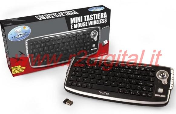 MINI TASTIERA WIRELESS VULT MEDIA CENTER TOUCHPAD MOUSE PC LASER