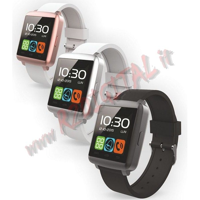 "Smartwatch TechWatchONE Display 1.44"" Bluetooth iOS Android - Clicca l'immagine per chiudere"