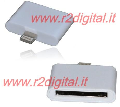 ADATTATORE CARICA & SINCRONIZZA APPLE IPHONE 5 ad IPHONE 4 30pin