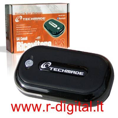 RICEVITORE GPS BLUETOOTH 54 CANALI TECHMADE ANTENNA CELLULARE