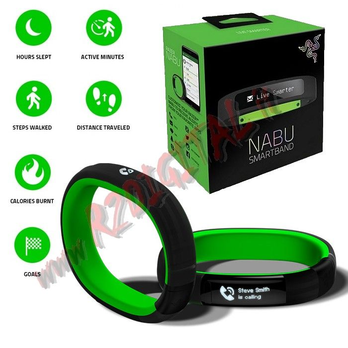 BRACCIALE RAZER NABU GREEN 2015 MEDIO GRANDE DISPLAY OLED