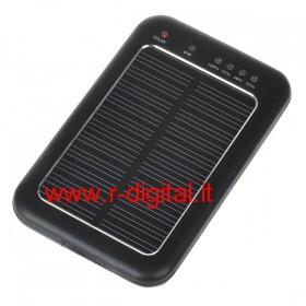 CARICABATTERIE SOLARE NEW UNIVERSALE USB 2600mA TORCIA CELLULARE