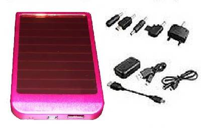 CARICABATTERIE SOLARE UNIVERSALE USB 2600mA IPOD NOKIA CELLULARE