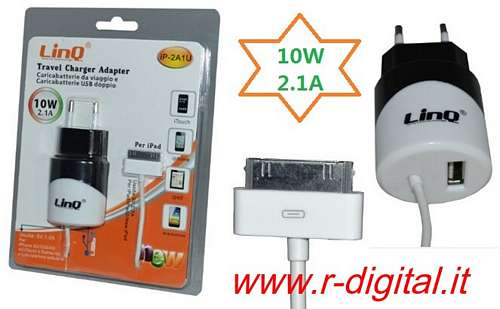 ALIMENTATORE USB 10 Watt NEW CARICABATTERIE A1357 IPAD IPHONE