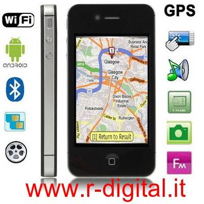 TELEFONO CELLULARE H2000 ANDROID CAPACITIVO IPHONE 4 WIFI GPS