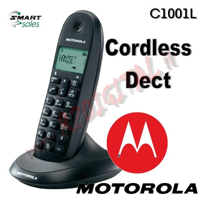 TELEFONO CORDLESS DECT MOTOROLA C1001L VARI COLORI DISPLAY LCD