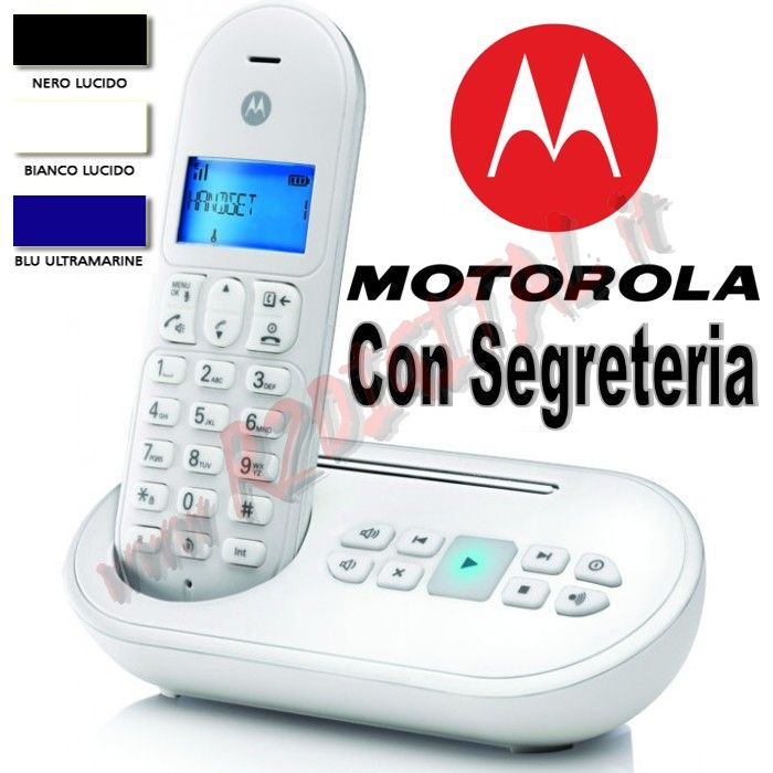 TELEFONO CORDLESS DECT MOTOROLA GAP T11 SEGRETERIA DISPLAY LCD