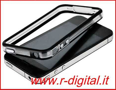 APPLE IPHONE 4 4G 4S CUSTODIA BUMPER COVER VARI COLORI