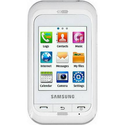 TELEFONO CELLULARE SAMSUNG C3300 WHITE BIANCO TOUCH SCREEN