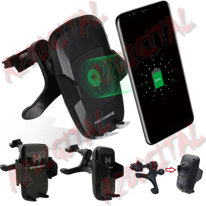 SUPPORTO AUTO IN PRESA ARIA Q67 CARICATORE WIRELESS QI SMARTPHON