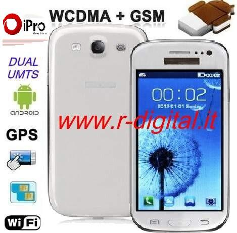 TELEFONO CELLULARE iPRO I9300 ANDROID CAPACITIVO GALAXY S3