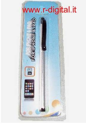 PENNA TOUCH IPHONE IPAD IPAD 2 IN PVC SILVER TOUCHPEN