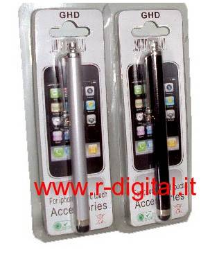 PENNA TOUCH IPHONE IPAD IN PVC SILVER TOUCHPEN