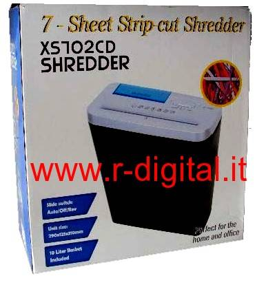 DISTRUGGI CD DVD DOCUMENTI XS702CD 10LT PROFESSIONALE AUTO START