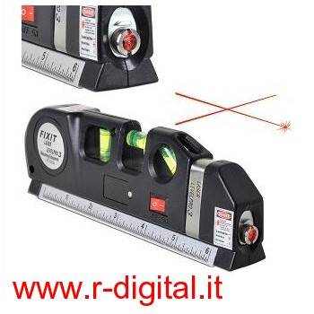 LIVELLA LASER DI PRECISIONE CON METRO PROFESSIONALE ON OFF