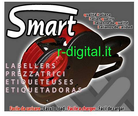 PREZZATRICE SMART PROFESSIONALE 6 CIFRE 11 ROTOLI MADE IN ITALY