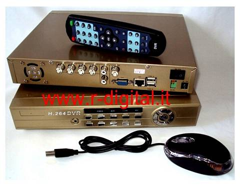 DVR 7804 DIGITAL VIDEO RECORDER 4 CANALI AUDIO VIDEO LAN USB VGA