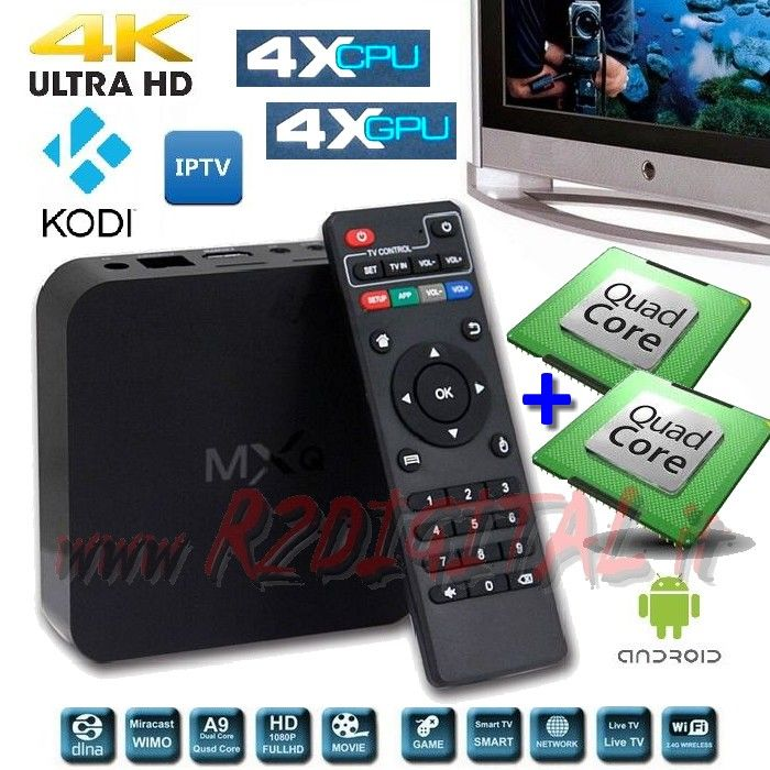 ANDROID BOX MX UHD MEDIA PLAYER WIFI LAN TV SMART LETTORE MKV HD