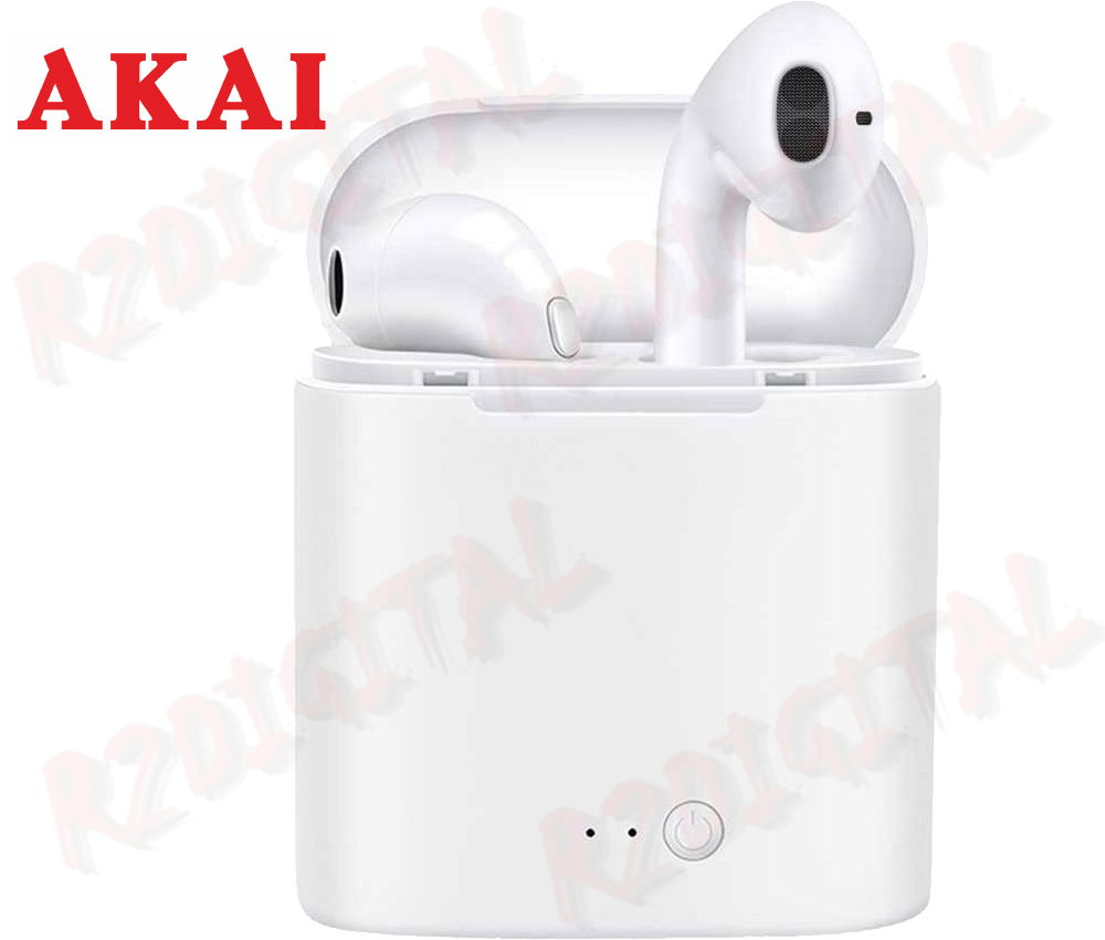 AURICOLARI CUFFIE AKAI BLUETOOTH WIRELESS SENZA FILI