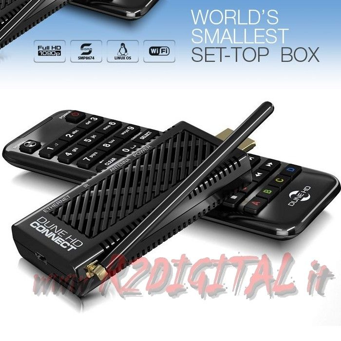 MEDIA PLAYER D HD WIFI LAN TV SMART BOX LETTORE MKV DVD IPTV 3D