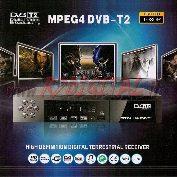 DVB-T T2 MPEG4 DIGITALE TERRESTRE USB HDMI LETTORE MKV HD VIDEO