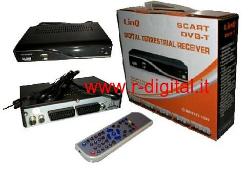 DVB-T 809 DIGITALE TERRESTRE REGISTRATORE USB AVI RADIO SCART