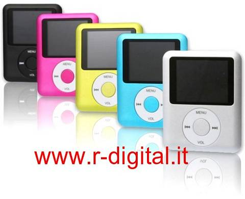 LETTORE MP4 MINI 8 GB DISPLAY LCD MEDIA PLAYER VARI COLORI USB