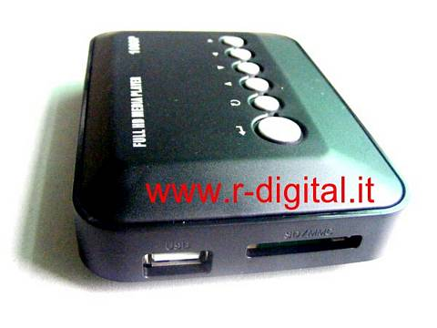 MEDIA PLAYER HD REAL VIDEO CARD READER SD + USB TELECOMANDO VOB
