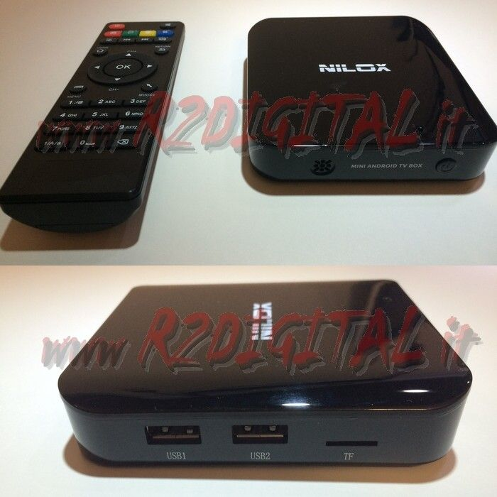 ANDROID BOX A7 HD MEDIA PLAYER WIFI LAN TV SMART LETTORE MKV DVD