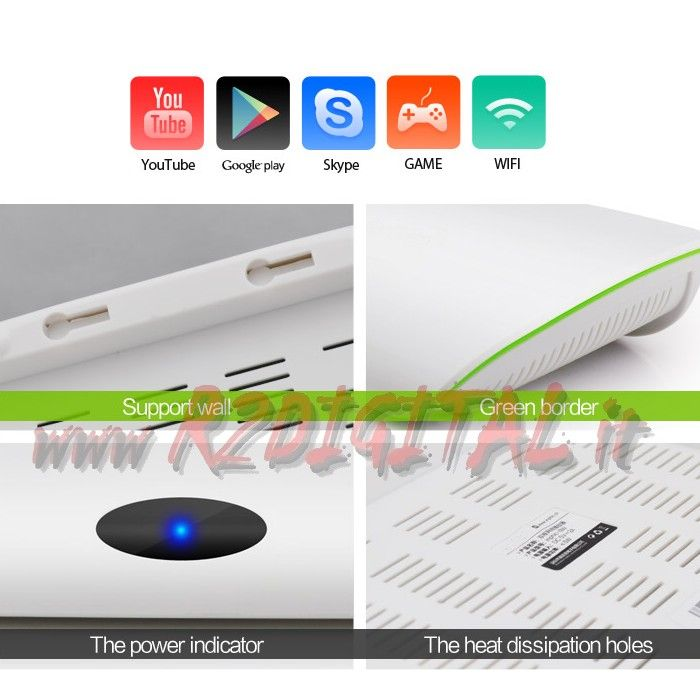 ANDROID BOX A20 HD MEDIA PLAYER WIFI LAN TV SMART LETTORE MKV