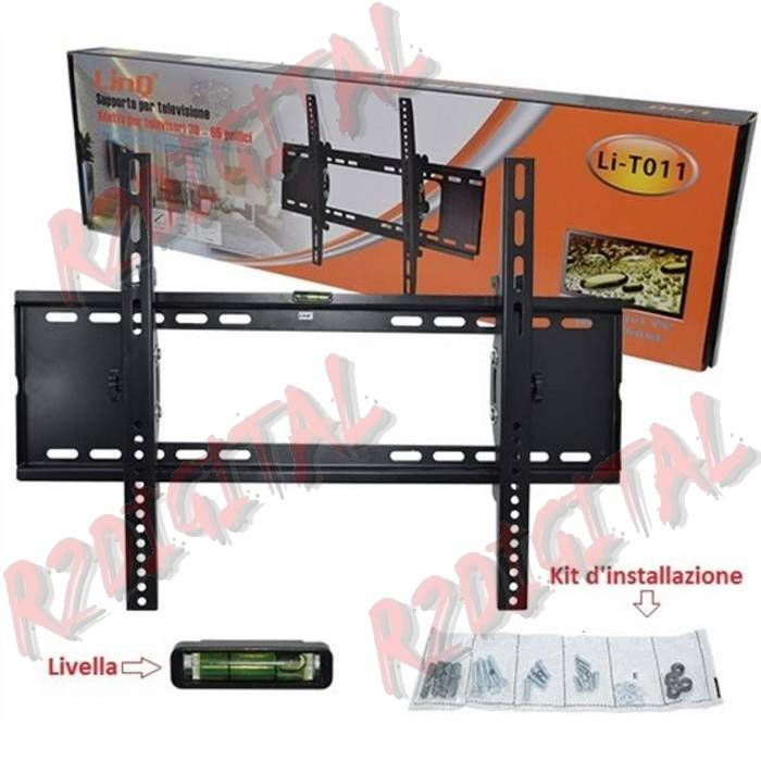 SUPPORTO PARETE da 30 a 65 POLLICI TV MONITOR LCD LED 3D PLASMA