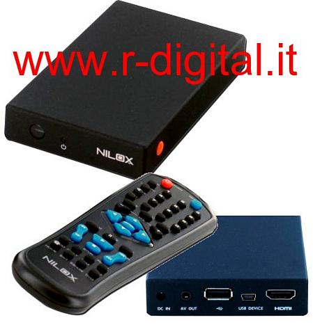 CASE BOX MULTIMEDIALE NILOX HD 2.5 HDMI TELECOMANDO MEDIA PLAYER