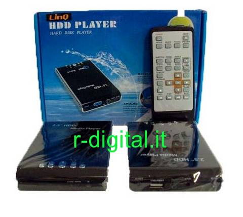 "CASE BOX MULTIMEDIALE SATA 2.5"" YPbPr TELECOMANDO MEDIA PLAYER"