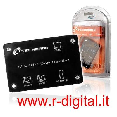 CARD READER TECHMADE TM-8006 ALL IN 1 LETTORE SCHEDE USB NERO