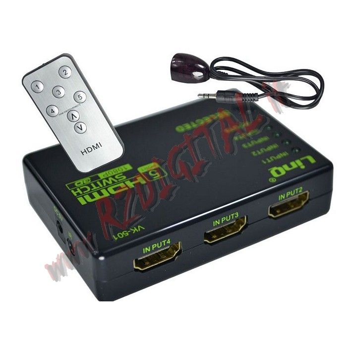 SWITCH Splitter 3 HDMI monitor port TV Set