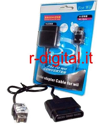 ADATTATORE CONVERTITORE JOYSTICK PLAYSTATION DA PS2 A WII