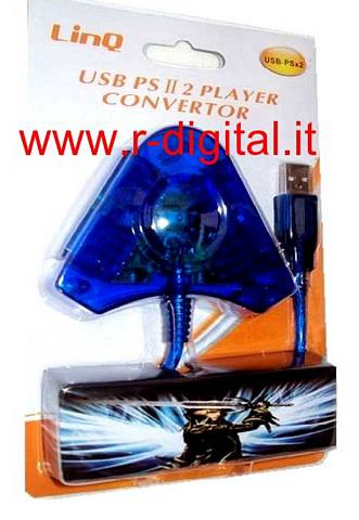 ADATTATORE CONVERTITORE LINQ JOYSTICK PLAYSTATION PS2 A PC USB