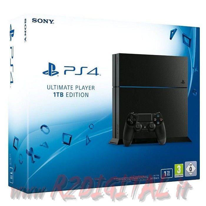 CONSOLE SONY PLAYSTATION 4 CHASSIS C 1TB PS4 NERO ITALIA 1000GB