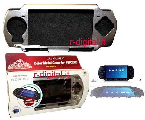 CUSTODIA METAL RIGIDA LUXURY ALLUMINIO PER SONY PSP NERO