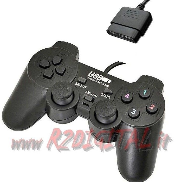 CONTROLLER PS e PS2 JOYSTICK VIBRAZIONE DUAL SHOCK PLAYSTATION 2