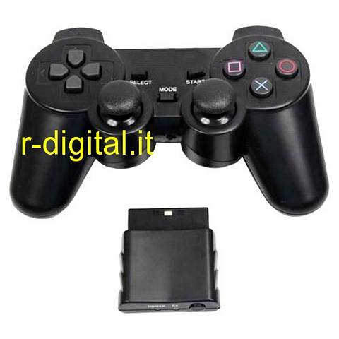 JOYPAD PS2 WIFI WIRELESS CONTROLLER PLAYSTATION 2 VIBRAZIONE PS